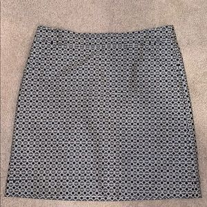 Mod print Banana Republic skirt